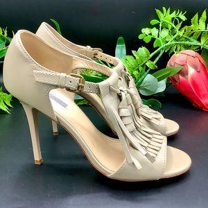 Uterque Fringe & Tassel Heels